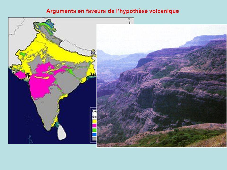 Arguments en faveurs de l'hypothèse volcanique
