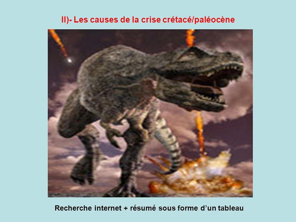II)- Les causes de la crise crétacé/paléocène