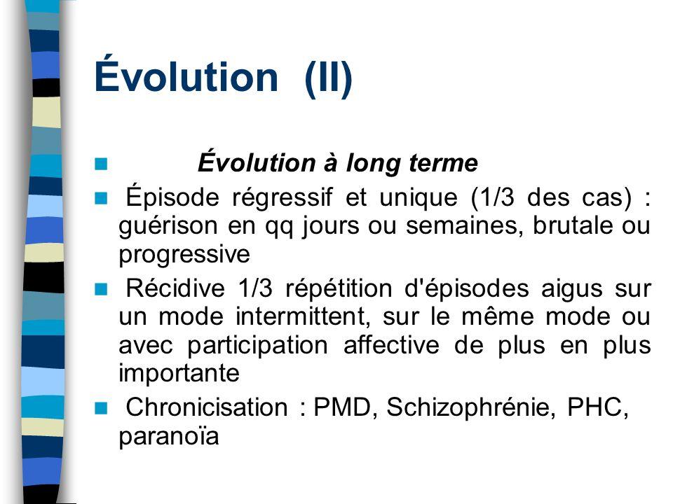 Évolution (II) Évolution à long terme