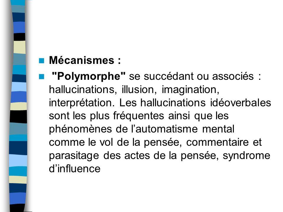 Mécanismes :