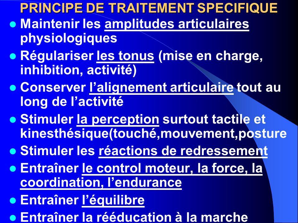 PRINCIPE DE TRAITEMENT SPECIFIQUE