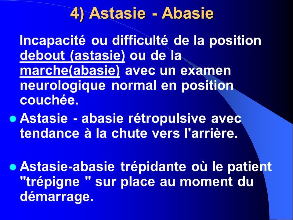 4) Astasie - Abasie