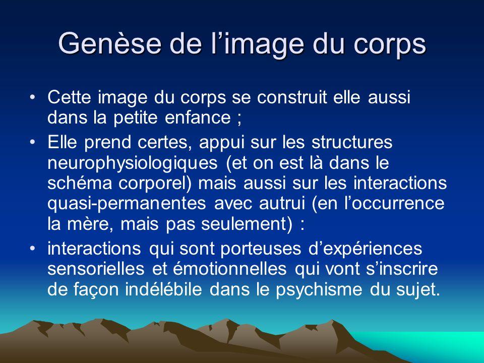 Genèse de l'image du corps