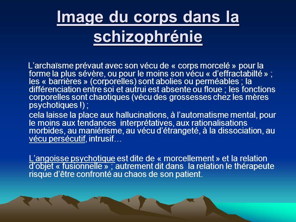 Image du corps dans la schizophrénie