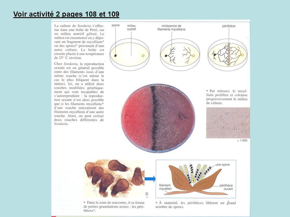 Voir activité 2 pages 108 et 109