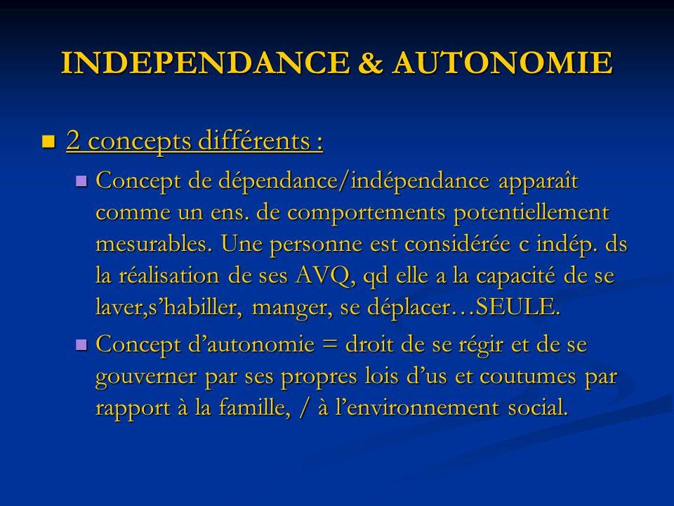INDEPENDANCE & AUTONOMIE