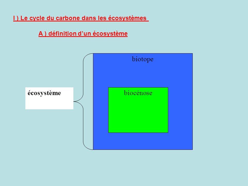 écosystème biotope biocénose