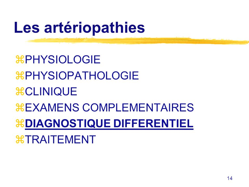 Les artériopathies PHYSIOLOGIE PHYSIOPATHOLOGIE CLINIQUE