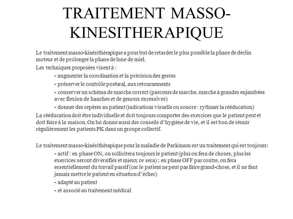 TRAITEMENT MASSO-KINESITHERAPIQUE