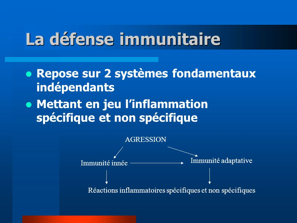 La défense immunitaire