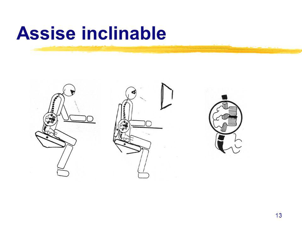 Assise inclinable