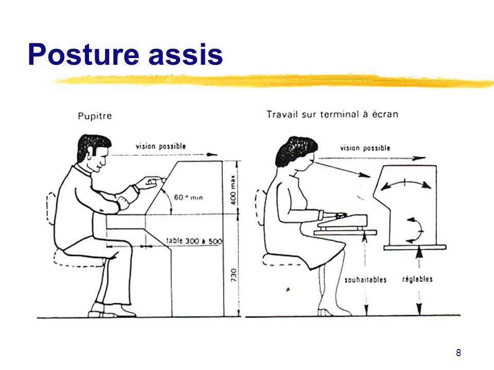 Posture assis