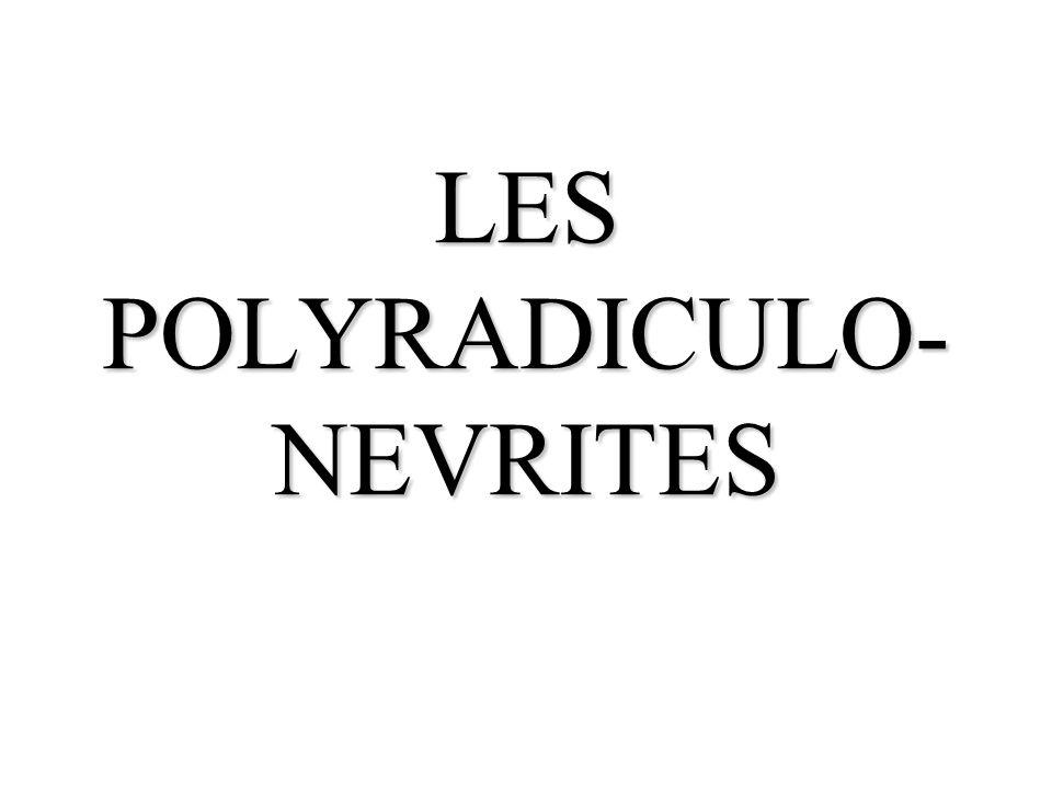 LES POLYRADICULO-NEVRITES