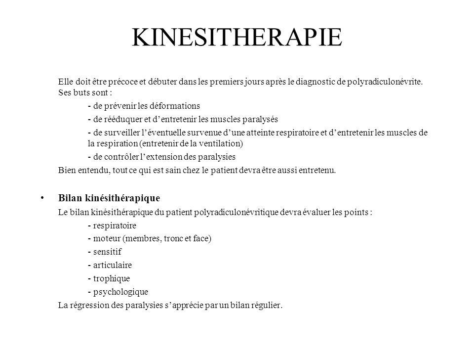 KINESITHERAPIE Bilan kinésithérapique