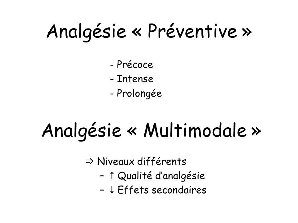 Analgésie « Préventive »
