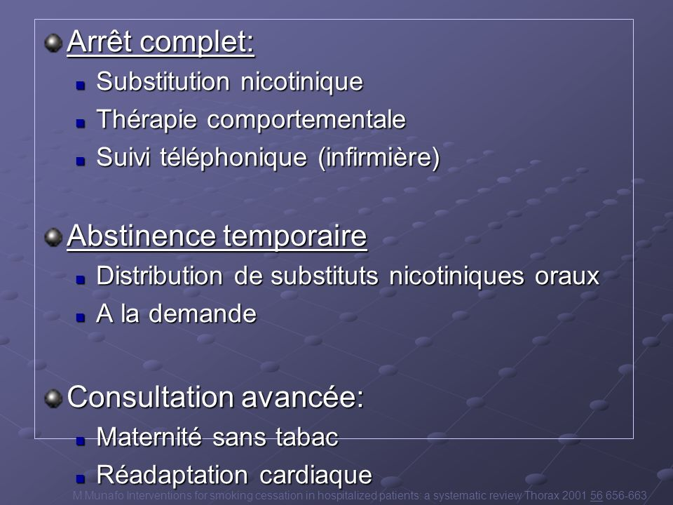 Abstinence temporaire