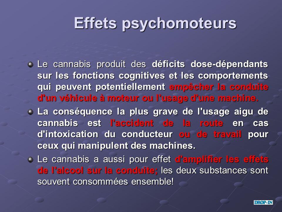 Effets psychomoteurs