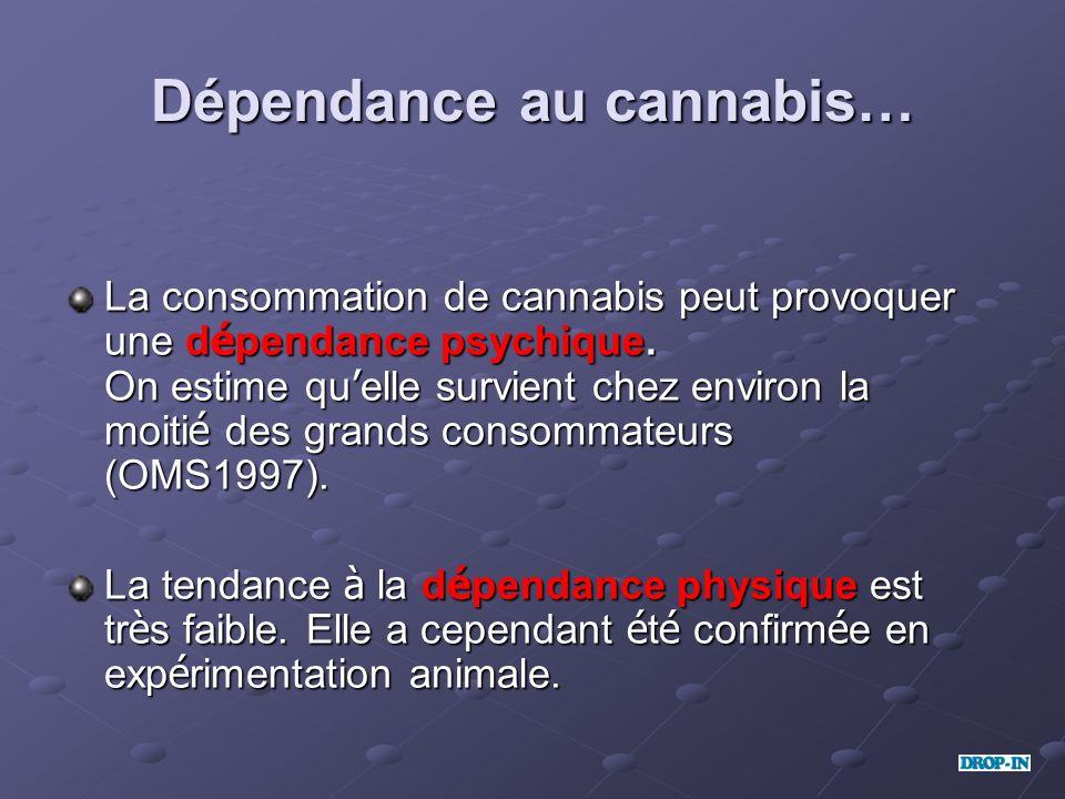 Dépendance au cannabis…