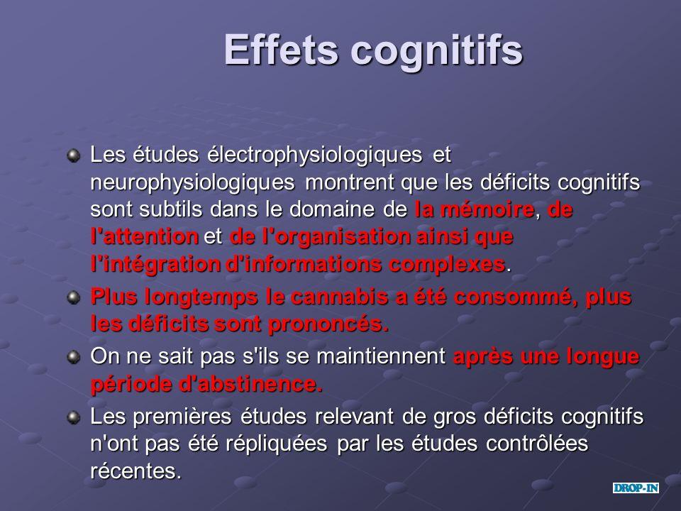 Effets cognitifs