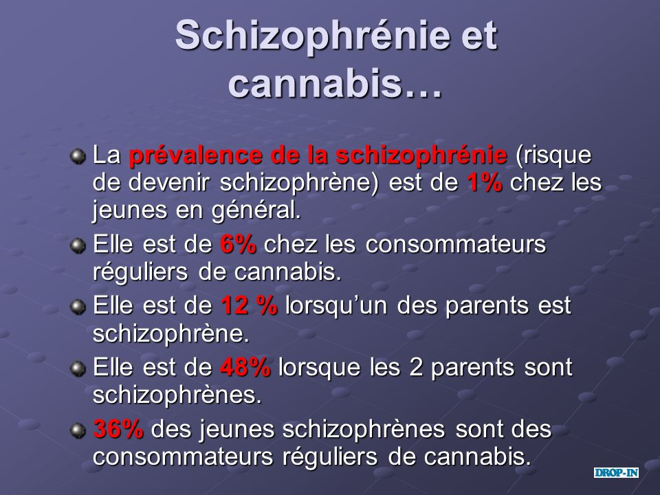 Schizophrénie et cannabis…
