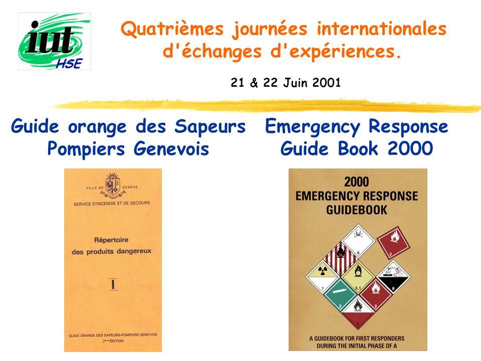 Guide orange des Sapeurs Pompiers Genevois