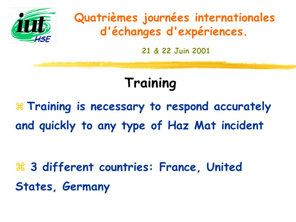 Training 3 different countries: France, United States, Germany