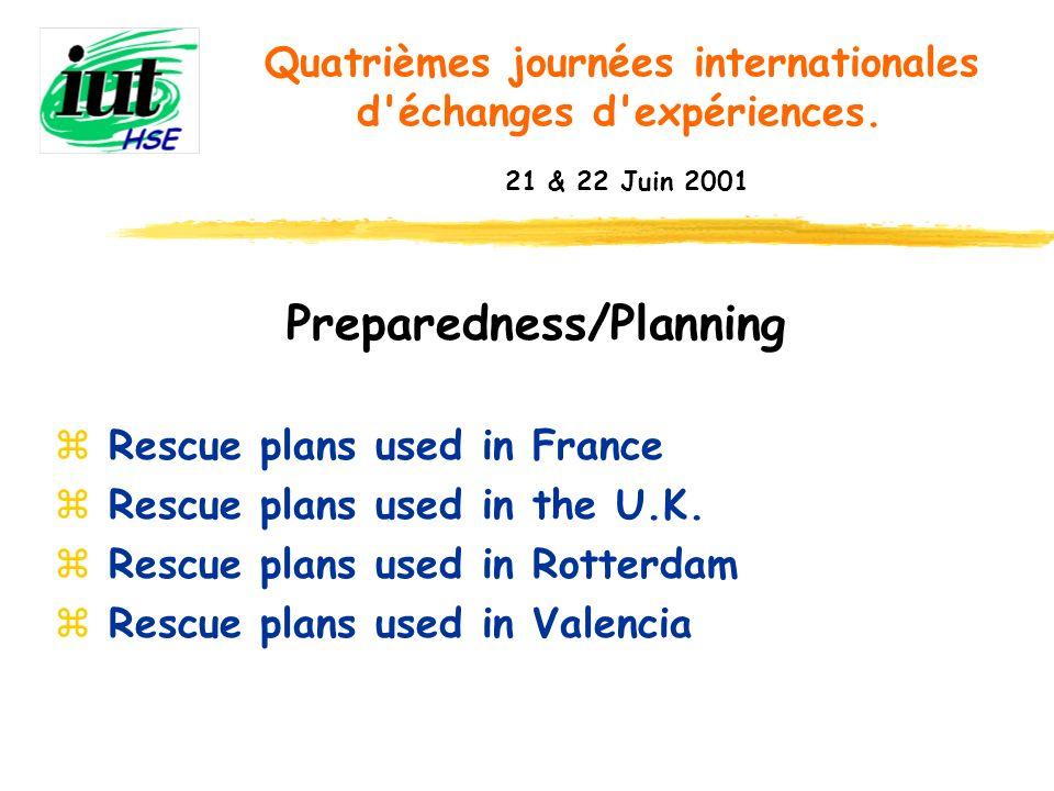 Preparedness/Planning