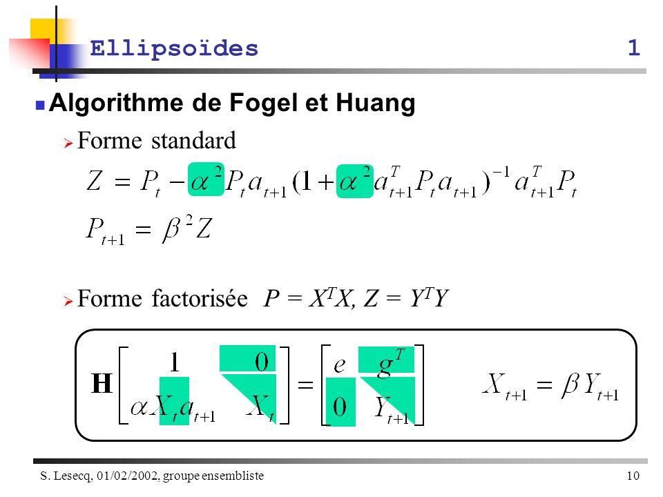 Algorithme de Fogel et Huang Forme standard