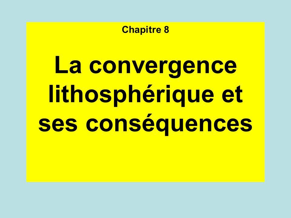 La convergence lithosphérique et ses conséquences