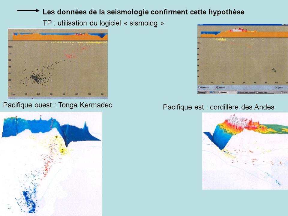 Les données de la seismologie confirment cette hypothèse