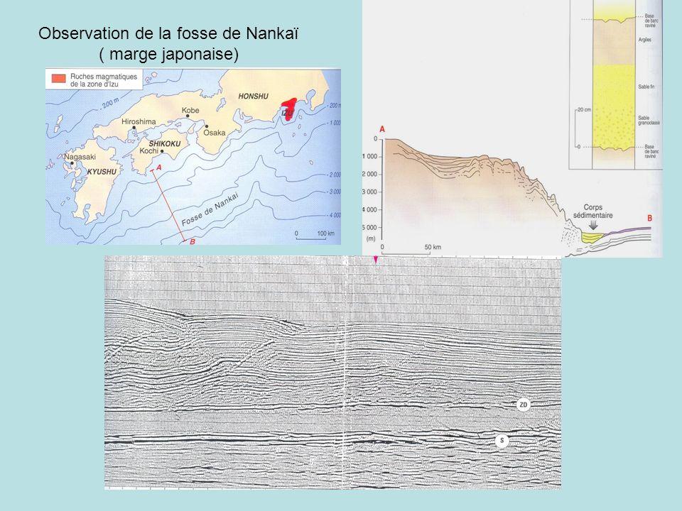 Observation de la fosse de Nankaï ( marge japonaise)
