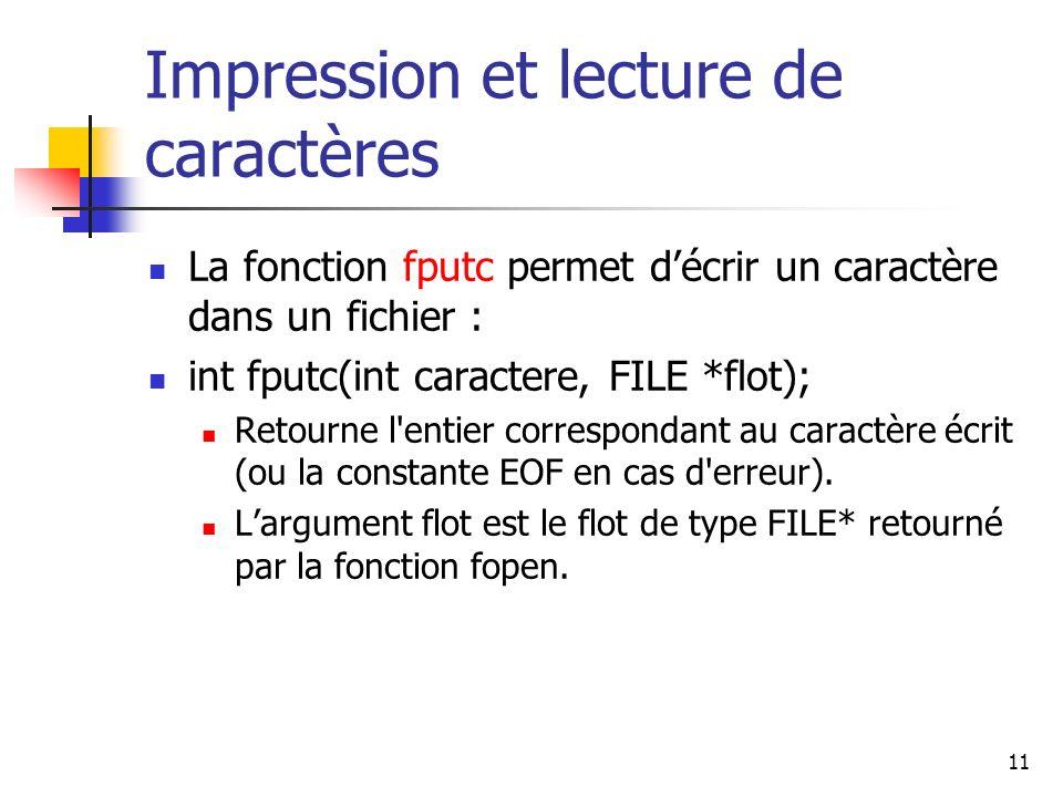 Impression et lecture de caractères