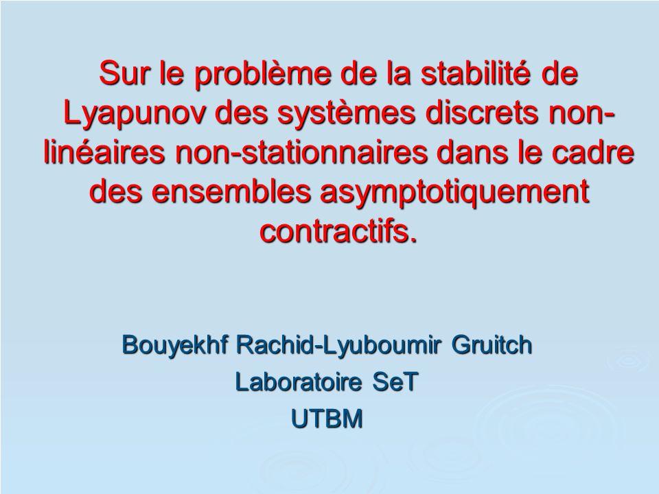 Bouyekhf Rachid-Lyuboumir Gruitch Laboratoire SeT UTBM