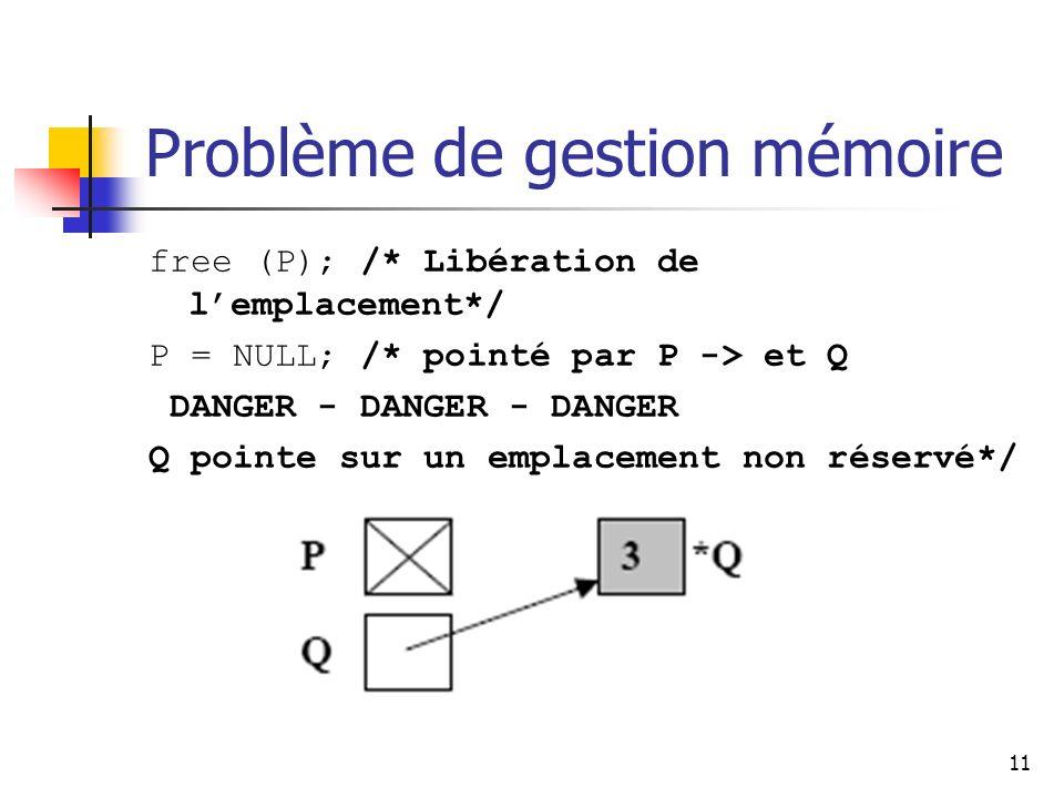 Problème de gestion mémoire