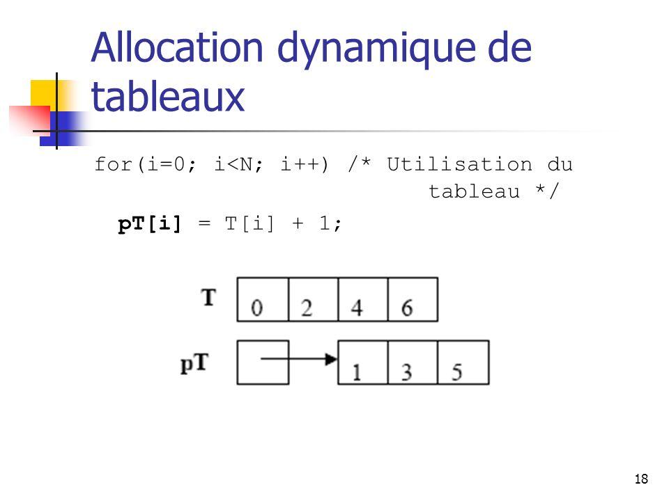 Allocation dynamique de tableaux