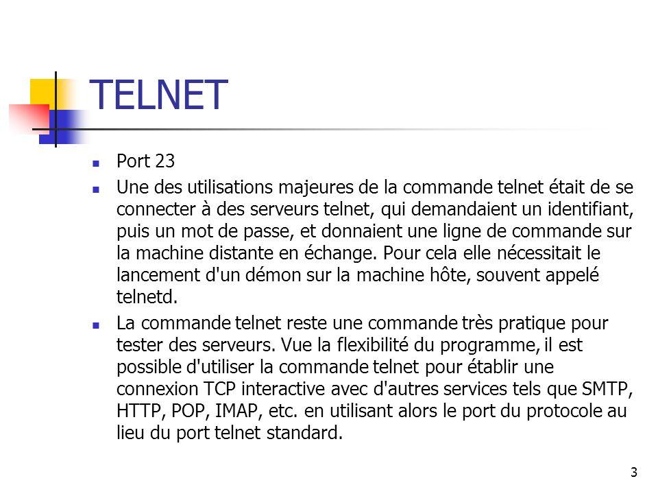 TELNET Port 23.