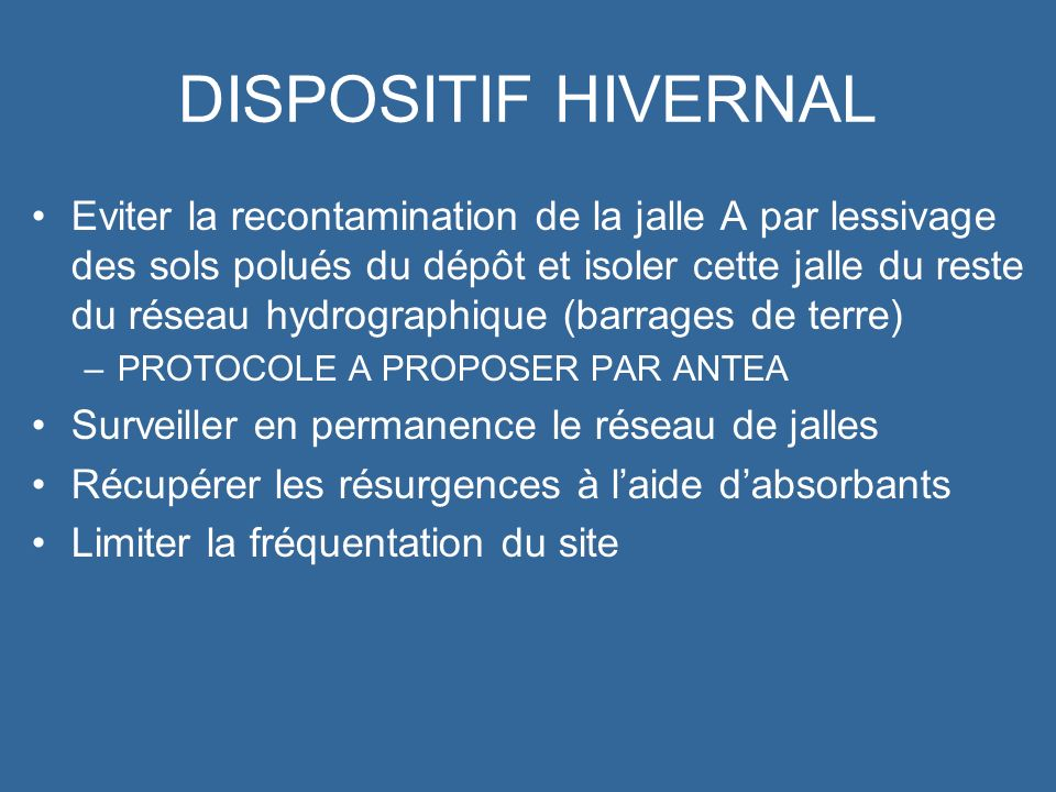 DISPOSITIF HIVERNAL