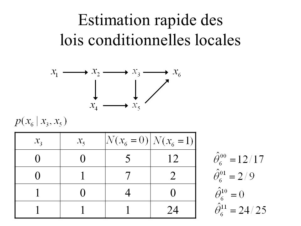 Estimation rapide des lois conditionnelles locales