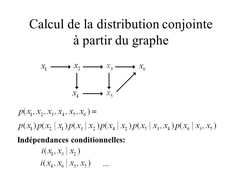 Calcul de la distribution conjointe à partir du graphe