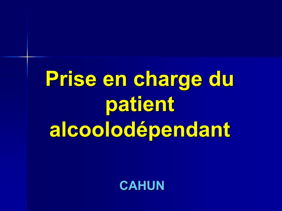 Prise en charge du patient alcoolodépendant