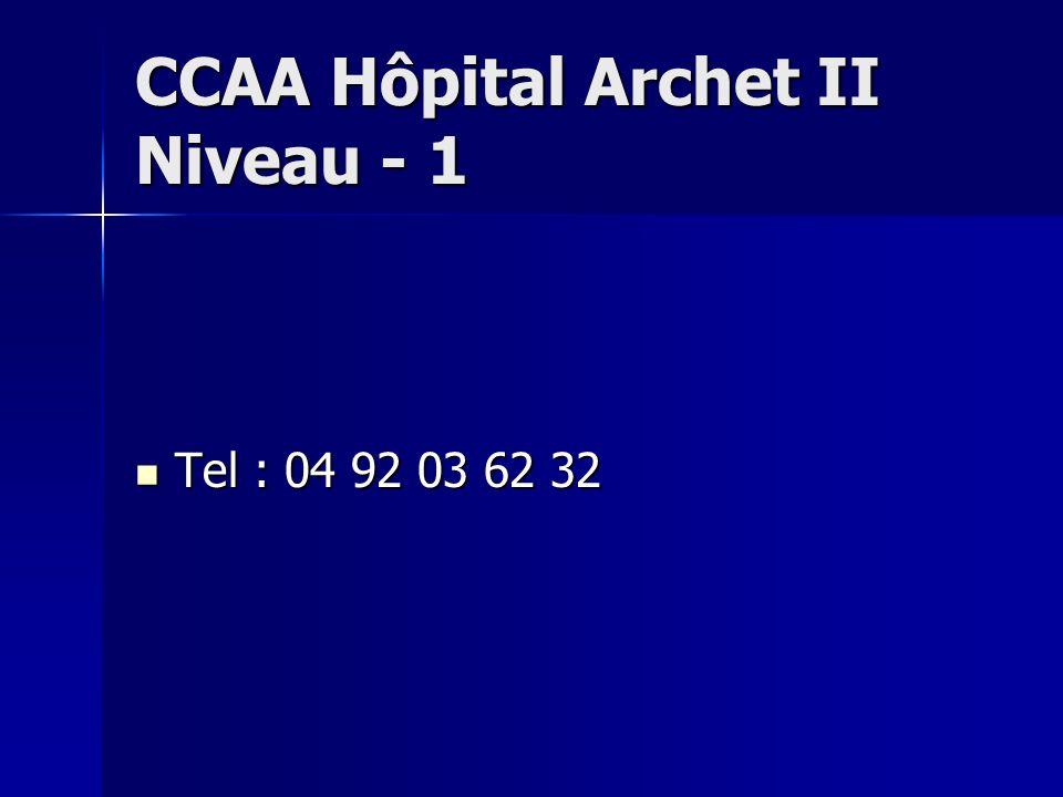 CCAA Hôpital Archet II Niveau - 1
