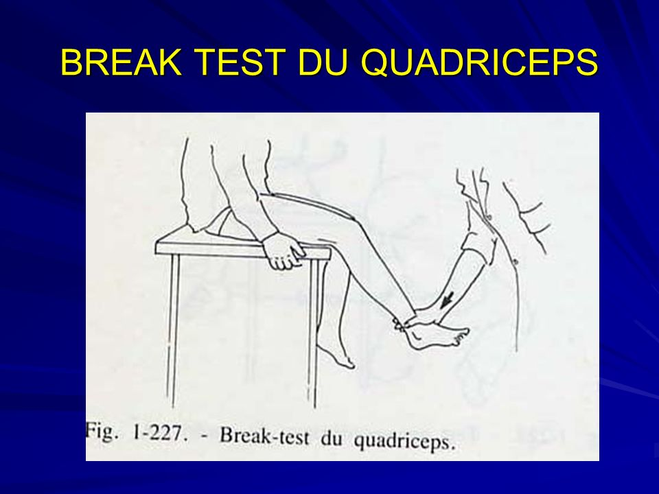 BREAK TEST DU QUADRICEPS