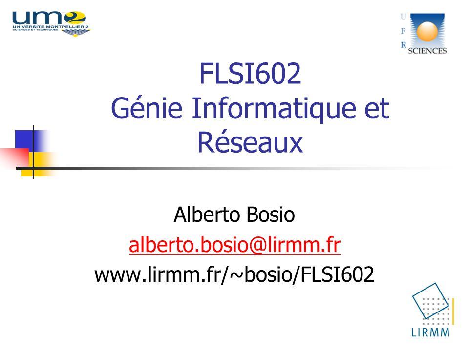 FLSI602 Génie Informatique et Réseaux