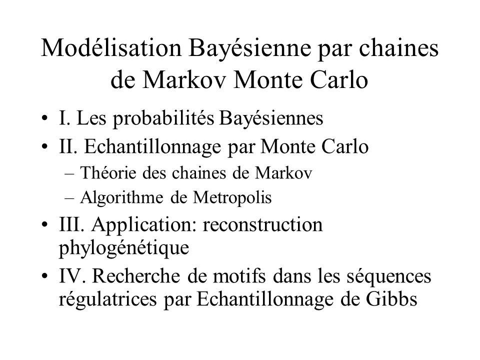 Modélisation Bayésienne par chaines de Markov Monte Carlo