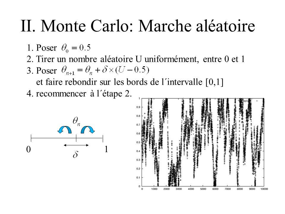 II. Monte Carlo: Marche aléatoire