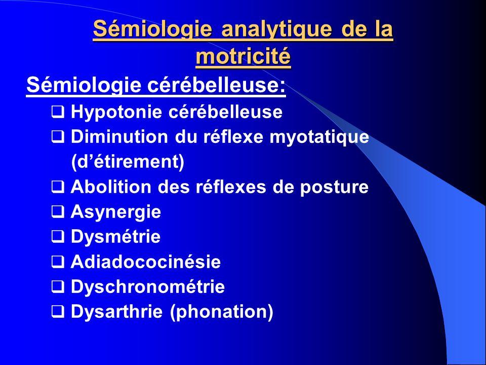 Sémiologie analytique de la motricité