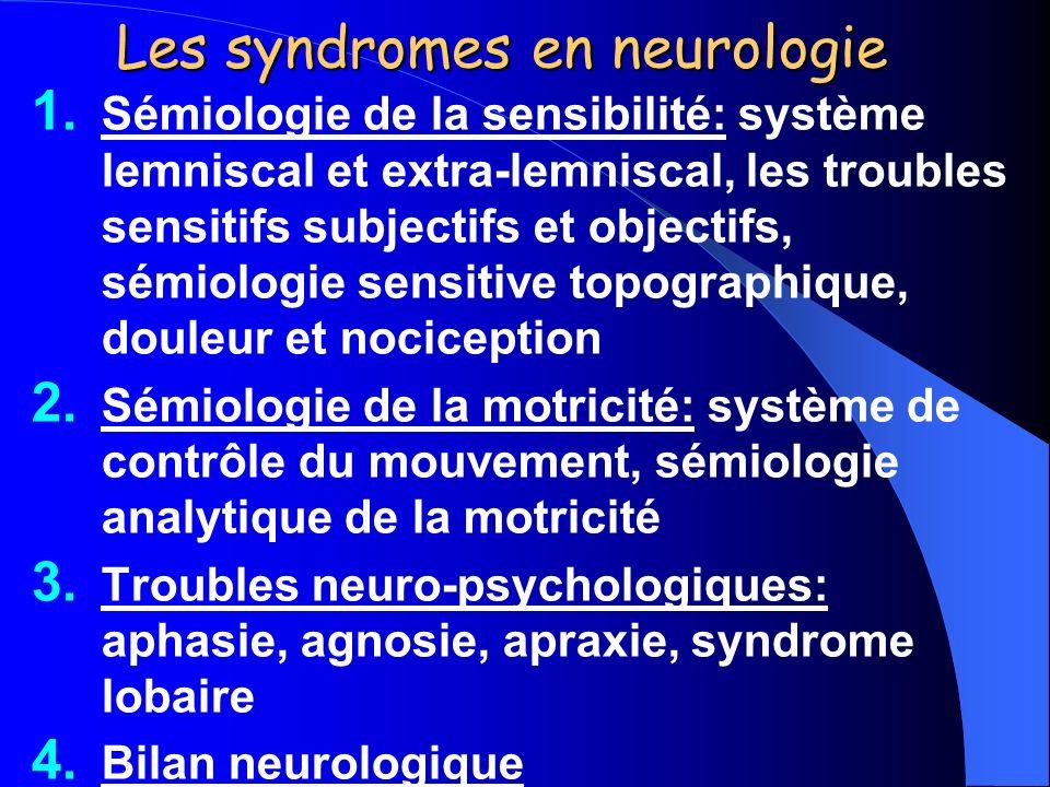 Les syndromes en neurologie