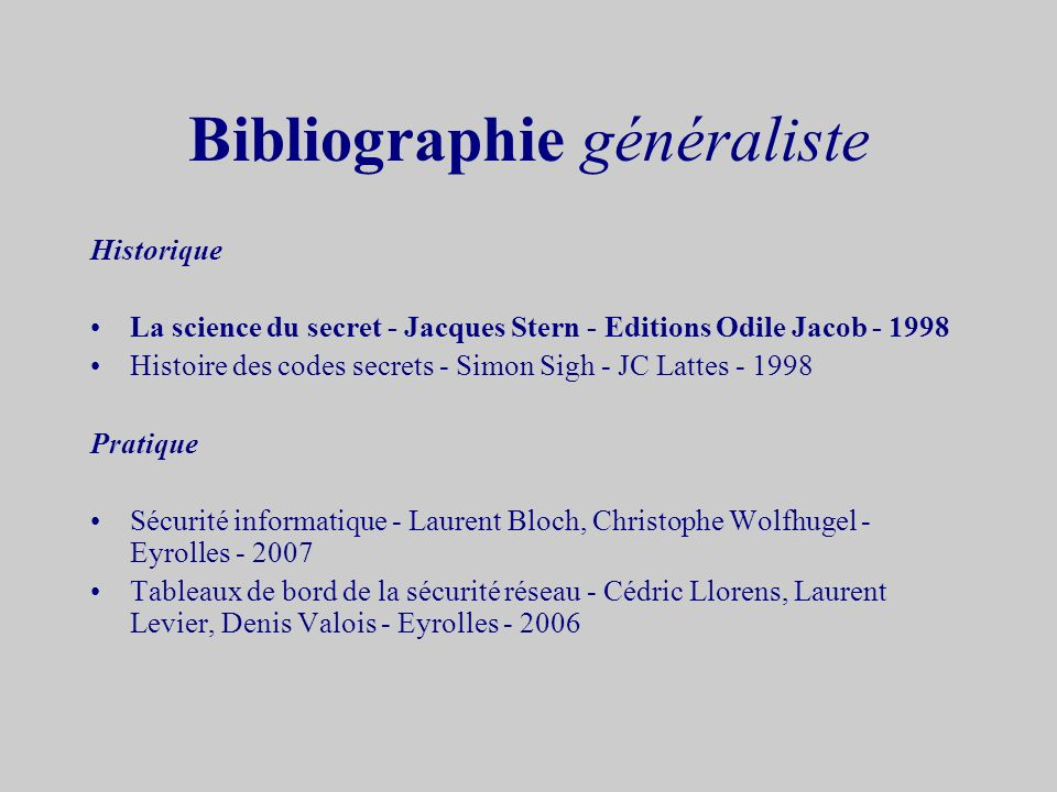 Bibliographie généraliste