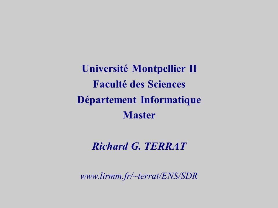 Université Montpellier II Département Informatique