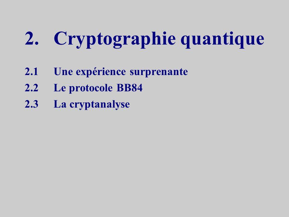 2. Cryptographie quantique